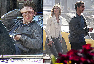 Pictures of Shia LaBeouf and Rosie Huntington-Whiteley on the Set of Transformers 3 2010-07-22 14:00:00