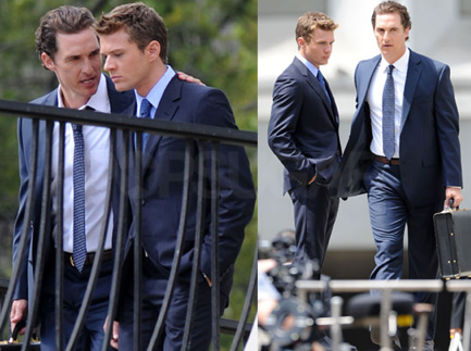 Pictures of Matthew McConaughey and Ryan Phillippe Filming The Lincoln Lawyer in LA