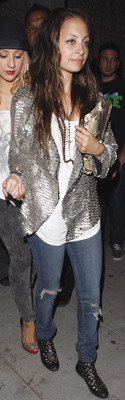 Nicole Richie in Silver Jacket at Voyeur in LA