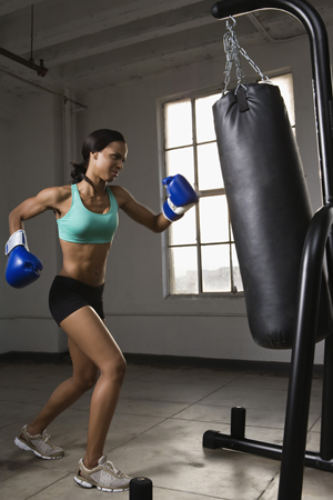 Boxing Workout From Michael Olajide Jr., Trainer to Eva Mendes