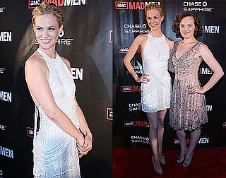 Pictures of January Jones and Elisabeth Moss at a Mad Men Premiere