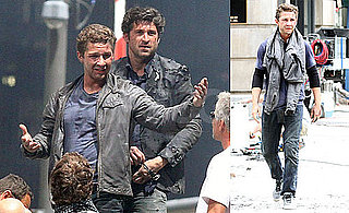 Pictures of Shia LaBeouf and Patrick Dempsey Filming Transformers 3