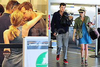 Pictures of Diane Kruger and Joshua Jackson Cuddling at LAX