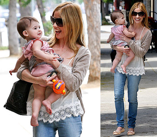 Pictures of Sarah Michelle Gellar Leaving Lunch With Baby Charlotte