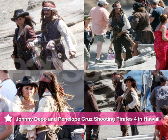 See Johnny Depp and Penelope Cruz Shooting Pirates 4 in Hawaii!