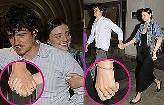 Pictures of Orlando Bloom and Miranda Kerr Return From Honeymoon Wearing Wedding Rings