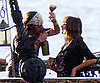 Slide Picture of Johnny Depp and Penelope Cruz Rehearsing Pirates 4 in Hawaii