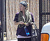 Slide Picture of Christina Applegate Pregnant at Gym