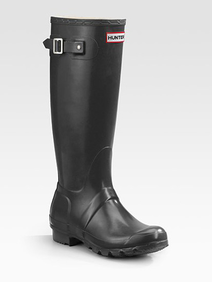 Gloss-Finish Original Rain Boots, approx $145, Hunter from Saks Fifth Avenue
