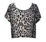 Leopard Print Cropped Top, $14.95 from Valleygirl