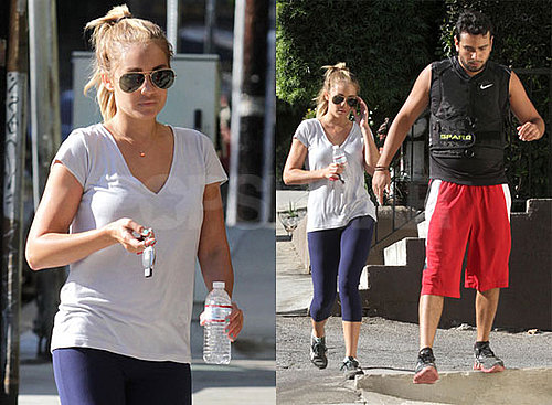 Pictures of Lauren Conrad and Frankie Delgado Hiking in LA
