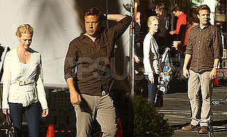 Pictures of January Jones Visiting Jason Sudeikis on the Set of Horrible Bosses
