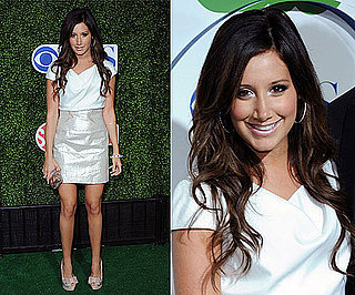 Pictures of Ashley Tisdale Wearing a BODYAMR Colorblock Dress