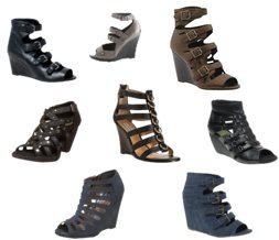 Cute shoes for Fall---the Gladiator Wedge