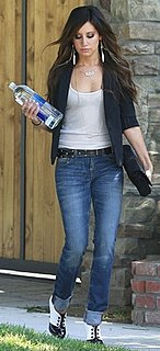 Ashley Tisdale Wears J Brand Jeans and an Enza Costa Tank