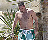 Slide Picture of Adam Sandler Shirtless in Spain