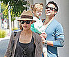 Slide Picture of Jessica Alba with Cash and Honor in LA