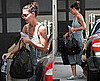 Pictures of Katie Holmes Arriving at a Studio in LA