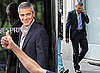 Pictures of George Clooney Shooting a Nespresso Commercial in Milan, Italy