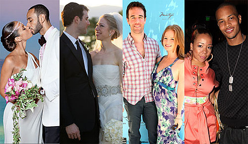 Newlyweds Alicia Keys, Chelsea Clinton, James Van Der Beek and T.I.