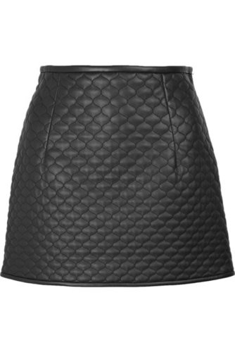 Chloé|Leather A-line mini skirt|NET 1790