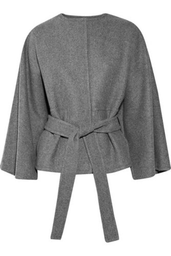 Stella McCartney|Belted cape-style coat|NET-A-PORTER.COM 1195