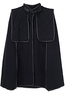 3.1 Phillip Lim Wool Cape with Quilted Yoke | La Garçonne 795