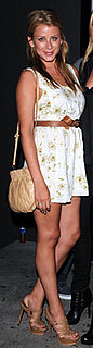 Lo Bosworth Wears YSL Pumps and Floral Dress in LA