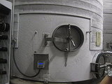 After the Chardonnay has fermented it's placed in another large tank that brings the temperature of the liquid down to an icy negative 2 degrees. This eliminates a certain acid, resulting in a more well-rounded Chardonnay.
