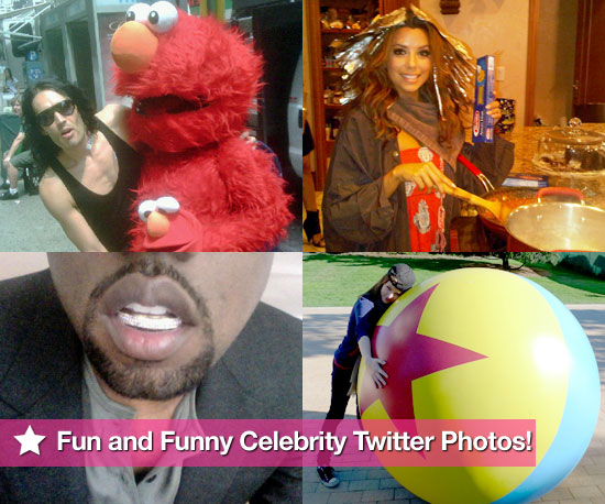 Russell Brand, Eva Longoria, Kanye West, and More in This Week's Fun and Funny Celebrity Twitter Photos!