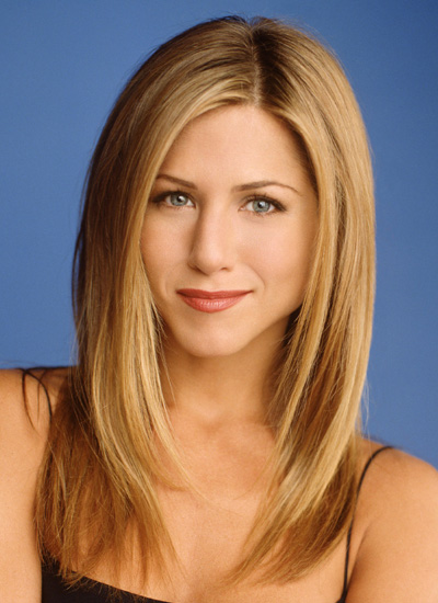 March 2001: As Rachel Green on Friends