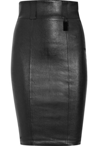 Thomas Wylde | Sidewinder stretch-leather pencil skirt | NET 1850