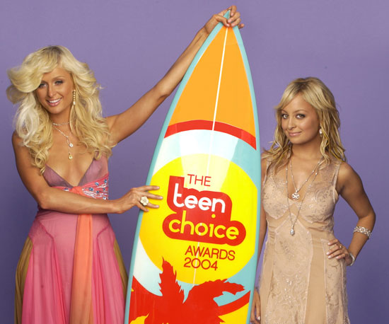 Paris Hilton and Nicole Richie hosted the awards show in 2004.