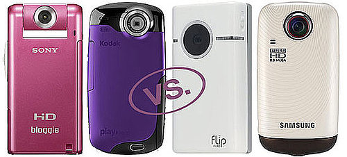 Sony Bloggie vs. Flip Video vs. Kodak Playsport vs. Samsung E10 Camcorders