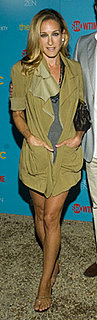 Sarah Jessica Parker Wears Khaki Donna Karan Jacket to The Big C Screening