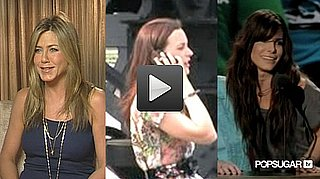 Video of Jennifer Aniston Eating Chips, Leighton Meester Filming Gossip Girl, and Sandra Bullock and Robert Pattinson