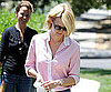 Slide Picture of January Jones Walking Dog in LA 2010-08-10 14:30:00