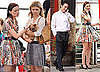 Pictures of Leighton Meester, Ed Westwick, Clemence Poesy and Adorable Puppies on Gossip Girl Set
