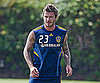 Slide Picture of David Beckham Practicing Soccer