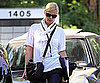 Slide Picture of Charlize Theron Leaving a Business Meeting in LA