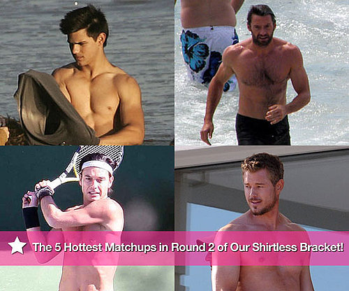 The 5 Hottest Matchups in Round Two of Our Shirtless Bracket so Far!