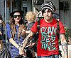 Slide Picture of Ashlee Simpson and Pete Wentz With Bronx in NYC