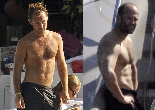 Shirtless Pictures of Jude Law and Jason Statham