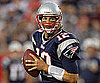 Slide Picture of Tom Brady in Uniform During a Pre-Season Game