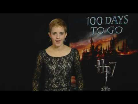 Watch Emma Watson With New Haircut at Harry Potter Promo Event Launching 100 Days to Go Until Deathly Hallows UK Release Date