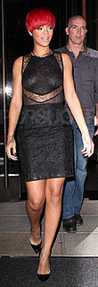 Rihanna Wears Black Lace Stella McCartney Dress in NYC