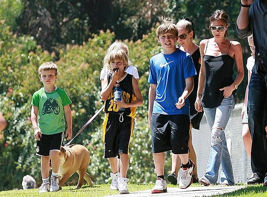 Victoria Beckham Taking Her Kids To The Park To Play Basketball