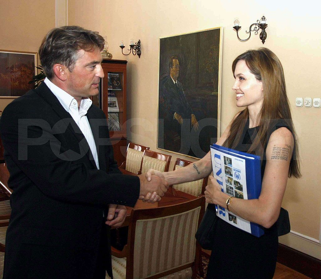 Pictures of Angelina Jolie in Sarajevo