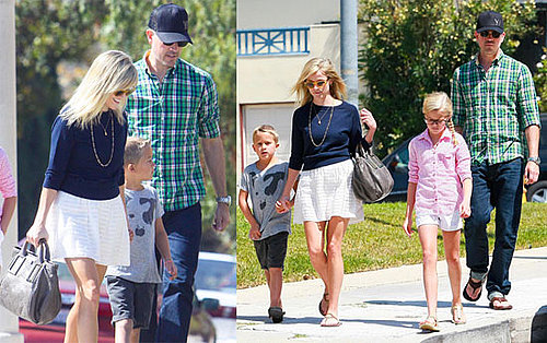 Pictures of Reese Witherspoon, Jim Toth, Ava Phillippe, and Deacon Phillippe Going to Church 2010-08-16 10:00:00