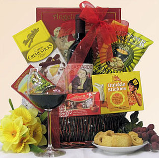 Breakup Gift Basket With Il Bastardo Wine, Snacks